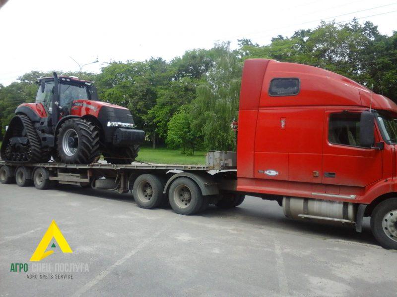 Перевозка негабарита: трактор Claas