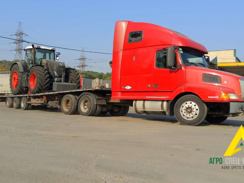 Перевозка негабарита: трактор Case