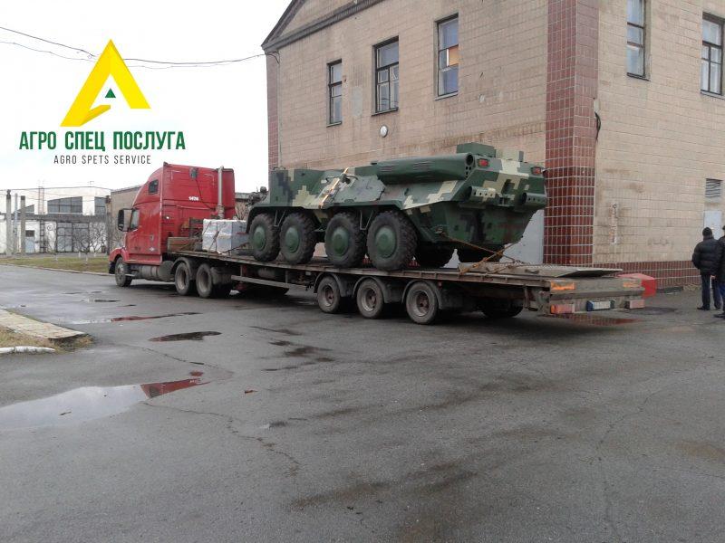 Перевозка негабарита: военная техника