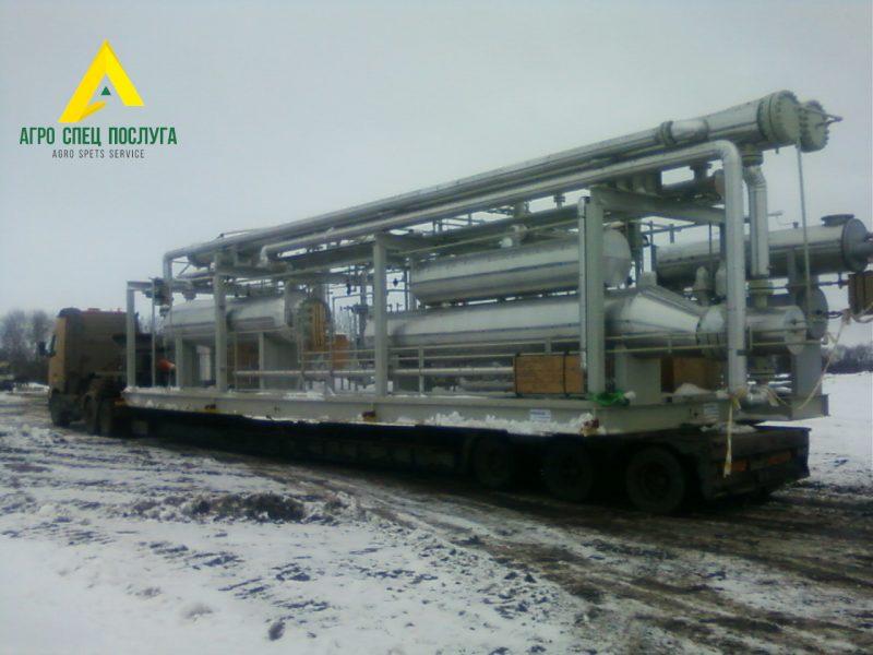 Перевозка негабарита: газовое оборудование