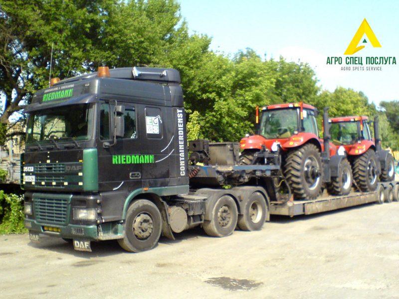 Перевозка тракторов CASE