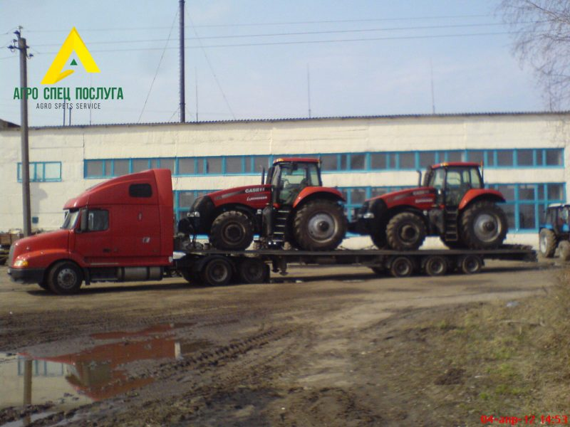 Перевозка негабарита: тракторы CASE