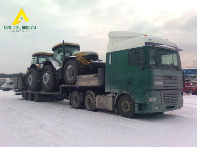 Перевозка негабарита: тракторы New Holland