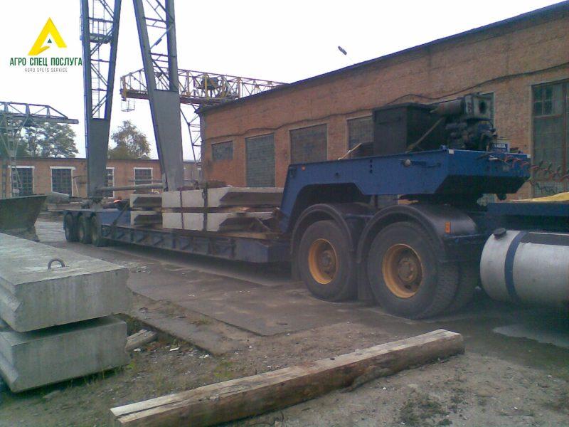 Перевозка негабарита: железо-бетонное перекрытие